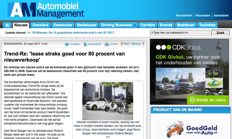 Radicale Daling Aantal Verkochte Nieuwe Auto's